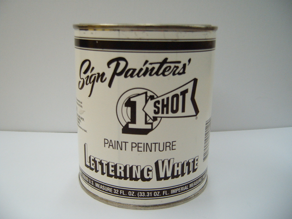 One Shot Lettering Enamel pints quarts