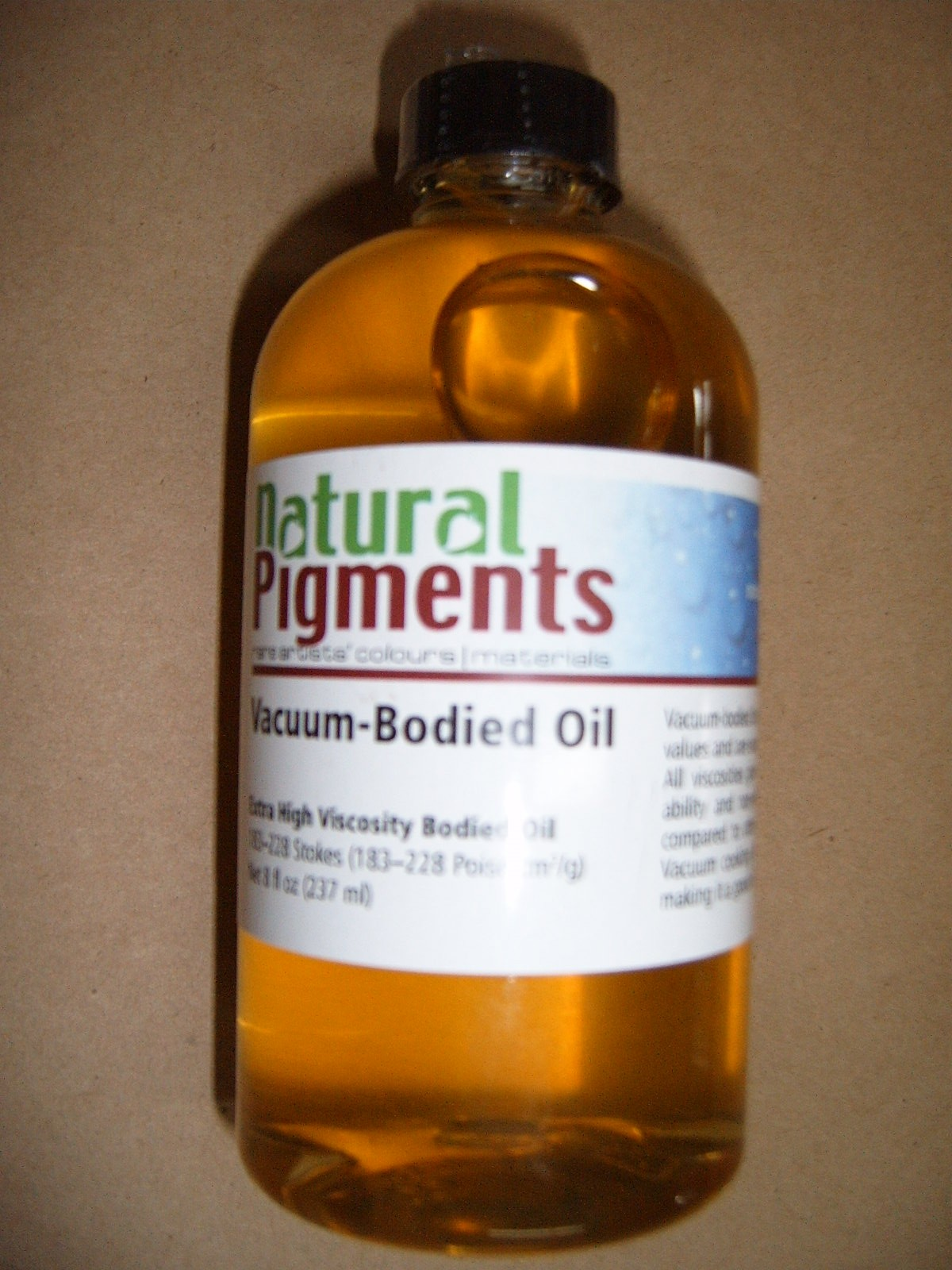 Natural Pigments Vacuum Bodied Linseed Oil