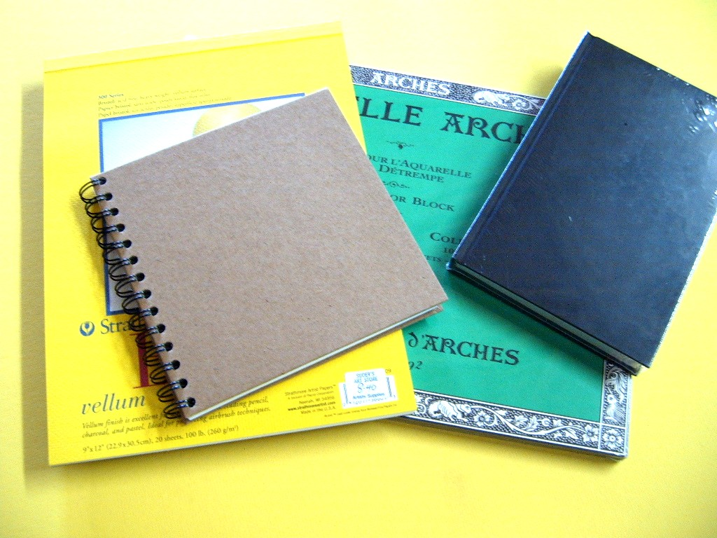 Sketchbooks, Pads, Blocks